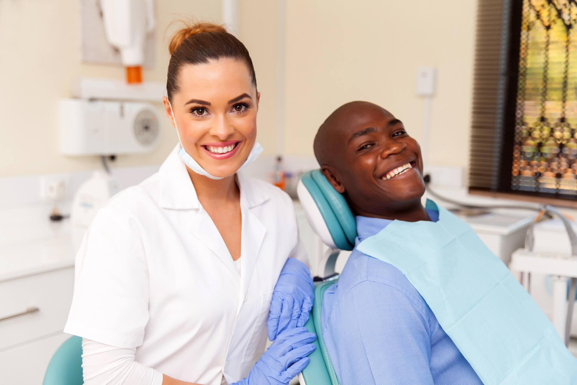 person at dentist in charleston sc